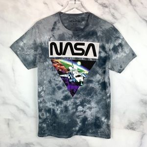 Chemistry NASA Graphic Tie-Dye Crewneck T-Shirt M
